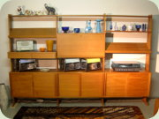 String Parad Swedish                           60's teak large shelving system by Sylve                           Stenqvist 1964