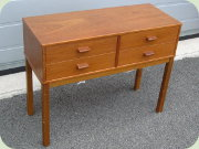 Swedish 60's small                           chest of drawers