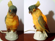 60's cockatoo bird                           parrot perfume lamp by Arno Apel Bavaria