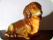 West German 60's long                           hair dachshund perfume lamp probably by                           Cortendorf