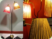 Swedish 50's or 60's                           two arm black lacquered metal floor lamp                           frånEskilstuna Elektrofabrik
