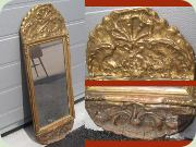 20th century gold                           coloured mirror