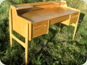 Scandinavian 60's oak desk or dressing                           table
