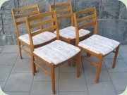 Set of 4 50's or 60's                           beech dining chairs