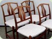 Set of four                           Scendinavian 60's rosewood chairs