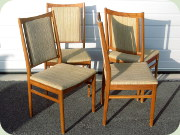 Set of four Swedish                           60's walnut dining chairs