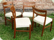 Swedish 60's teak                           dining chairs