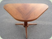 60's triangular                           pedestal table or dining table