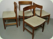 Set of 4 Swedish 60's                           rosewood dining chairs by Troeds, Bjärnum