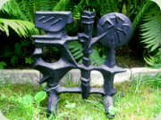 Swedish 60's cast iron                           sculpture by Olle Hermansson Husqvarna