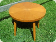 Small, round elm                           coffee table or side table