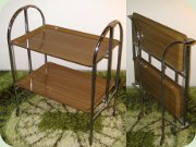 German 60's collapsible                           serving trolley, Bremshey & Co