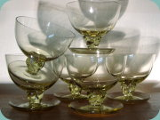 Greenish yellow                           cocktail glasses