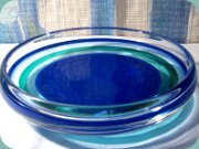 Swedish 60's dish or                           bowl by Nils Landberg Orrefors