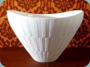 Gullaskruf Randi white                           glass bowl by Lennart Andersson