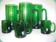 Johansfors green glass                           mugs