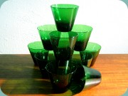Swedish 50's green                           tapered tumblers