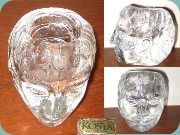 Kosta Boda early 80's                           headshaped votive by Bertil Vallien