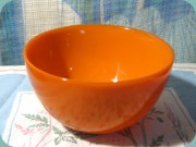 Orrefors Colora orange                           small bowl, Sven Palmquist