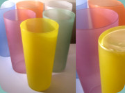 6 coloured lemonade or                           highball glasses