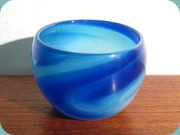 Swedish 70's swirled                           glass bowl by Hannelore Dreutler & Arthur                           Zirnsack Studio Åhus