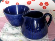 Sugar bowl and creamer                           by Bo Fajans