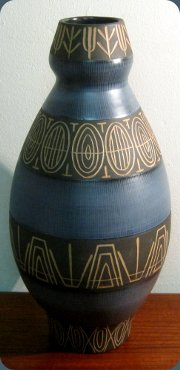 Swedish 50's large                           vase by Berit Ternell Bo Fajans #071
