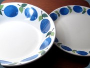 Gustavsberg Prunus                           soup plate and side plate, Stig Lindberg