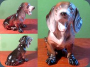60's dachshund figurine #45 by Katzhütte                           GDR Eastern Germany