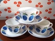Gustavsberg Prunus                           coffee cups and saucers