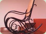 1930s rocking chair, bent wood and                           wicker, possibly Thonet