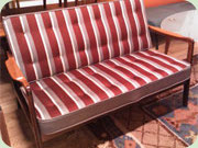 1950s mahogany sofa,                           possibly by Ole Wanscher