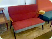 50s sofa with black                           legs