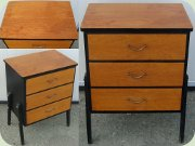 Swedish 50's or                           60'steak & black lacquered chest of drawes                           made by Gyllensvaans for IKEA