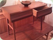 50s teak hallway table                           with 2 drawers