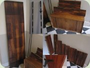Late 60's wall mounted                           rosewood shelf system with cabinets