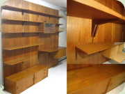 60's teak shelving                           units with panels