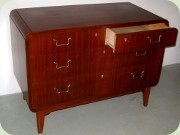 Large mahogany chest                           of drawes