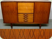 Swedish 50's teak                           cabinet with drawers