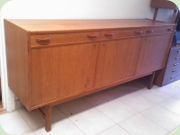 Teak sideboard with                           drawers