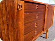60's rosewood                           sideboard with sliding doors IKEA Ladoga