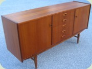 50's or 60's teak                           sideboard with five drawers