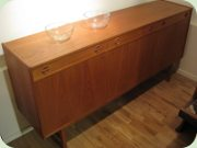 Teak sideboard with 3                           drawers