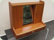 60's teak cabinet with                           with tilting mirror