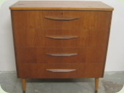 Scandinavian 50's or                           60's teak chest of drawers