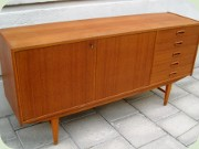 60's teak sideboard                           with 5 drawers