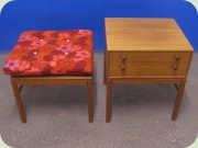Swedish 60's small                           chest of drawers and side table, Casino by                           Engström & Myrstrand, Tingströms