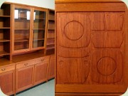 Yngve Ekström Krus                           50's or 60's cabinet with bookshelves and                           glass doors by Westbergs Furniture Tranås
