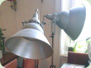 60's studio lamps,                           industrial style