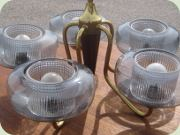 Ceiling lamp with 5                           glass shades